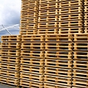Different size wooden pallets