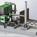 Industriālie apkures katli: šķeldas, malkas, granulu zaļā siltumenerģija