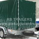 Trailer piekabe divasu kaste tents