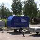 Awnings and frames for light trailers